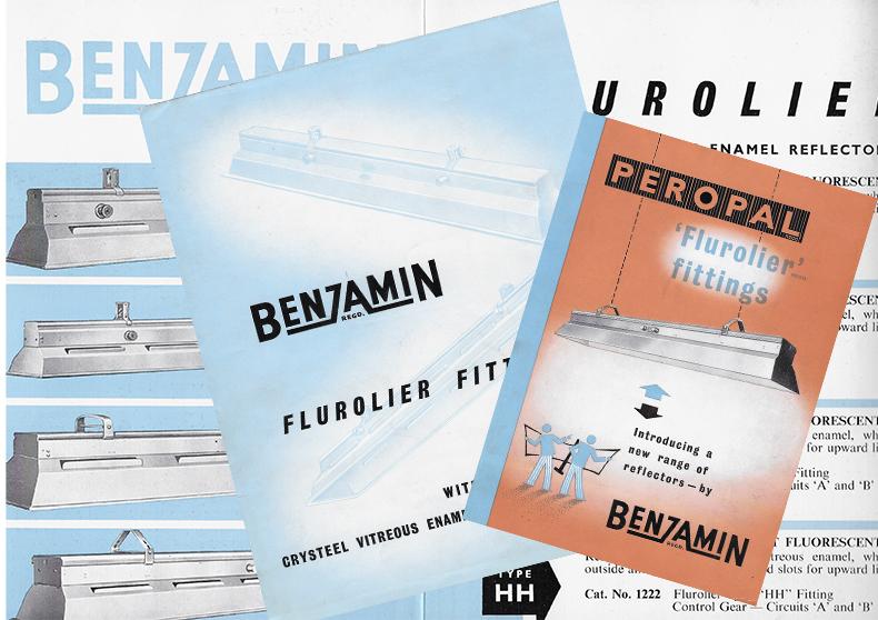 Benjamin Flurolier Lighting catalogue