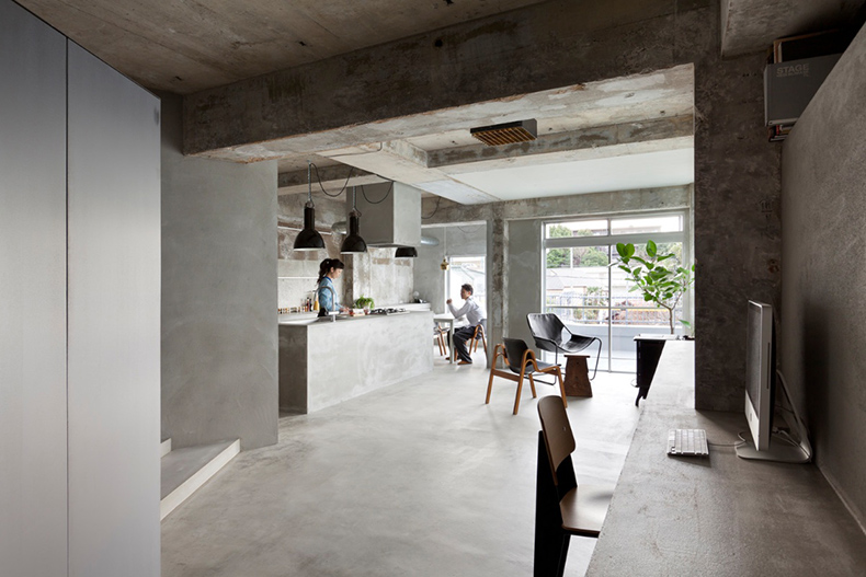 Concrete apartment Japan