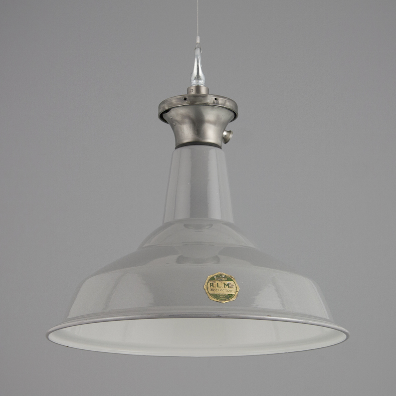 Vintage industrial pendant light by Benjamin