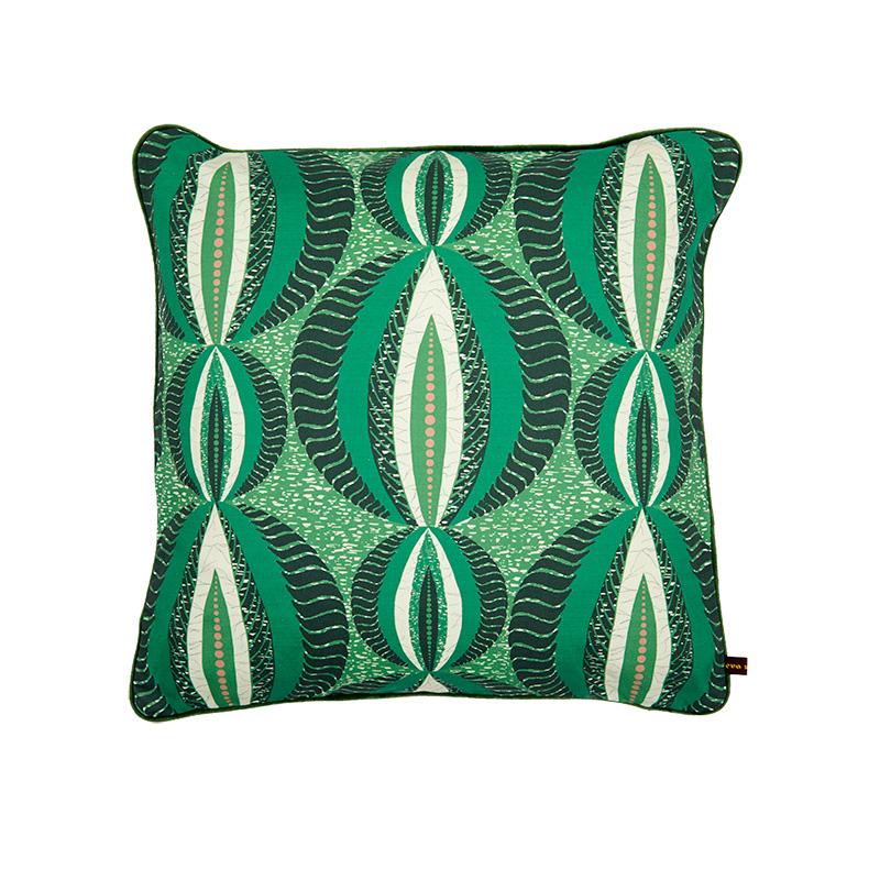 Eva Sonaike green cushion design