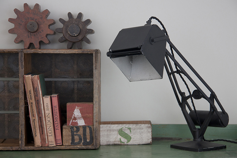 Black vintage map reading lamp