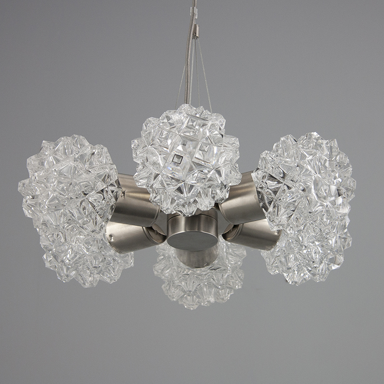 vintage retro Czech glass chandelier
