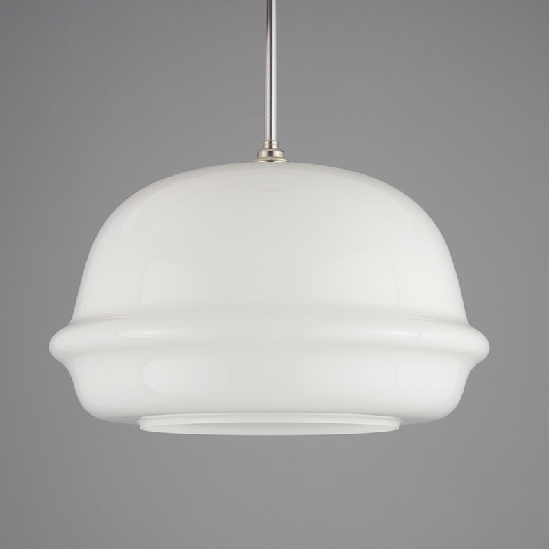 1950s XL opaline pendant light