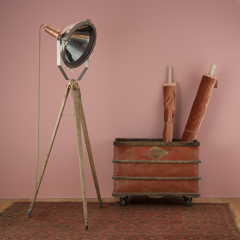 Copper search light standing lamp