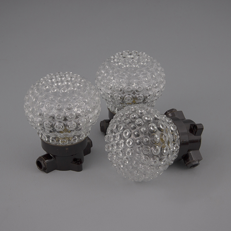 Retro glass ceiling lights
