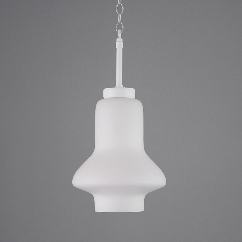 Retro opaline glass pendant lights