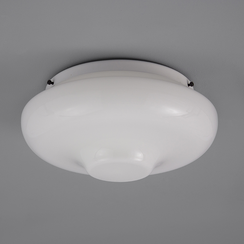 Retro opaline glass ceiling light