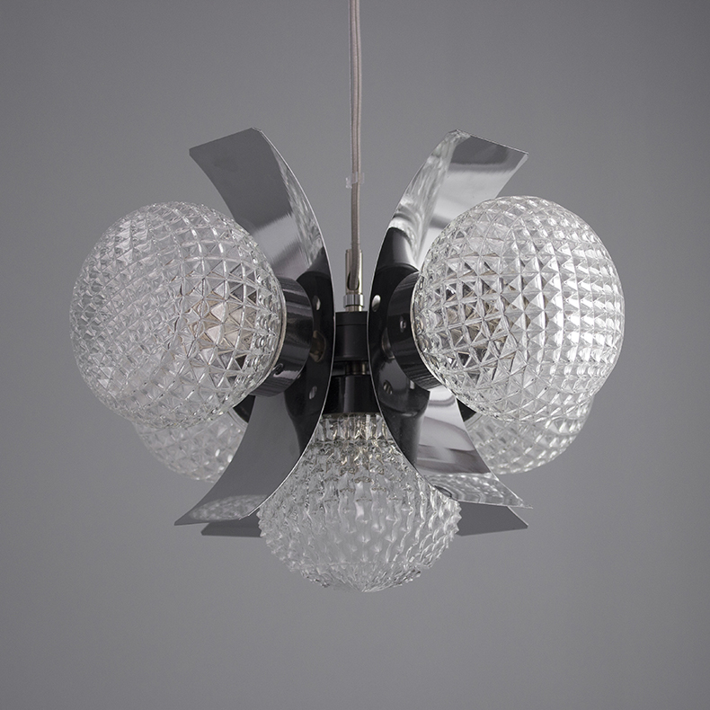 Retro glass chandelier circa 1970s