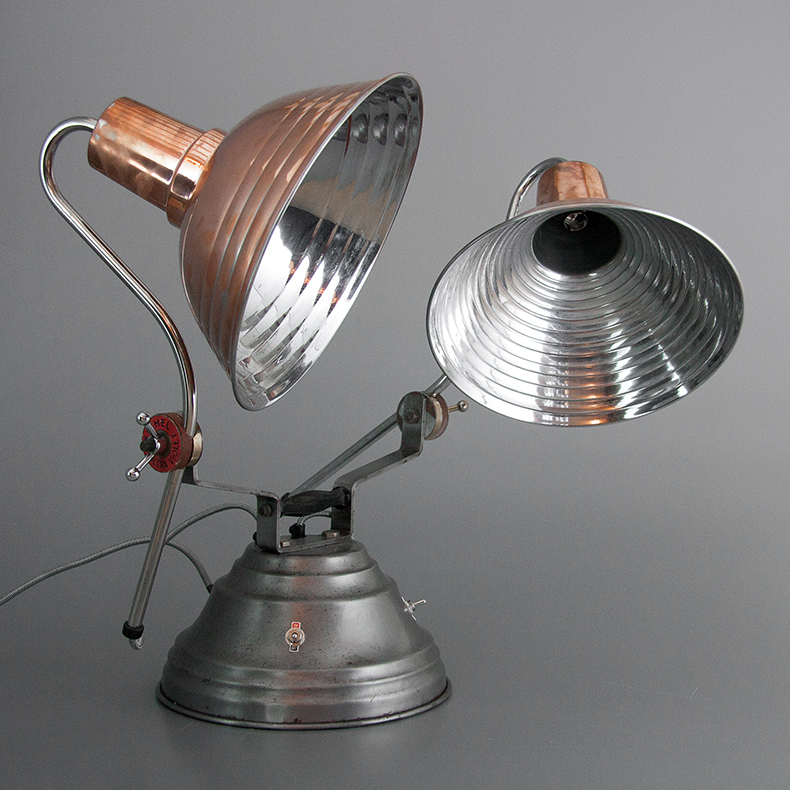 Copper art deco converted heat lamp
