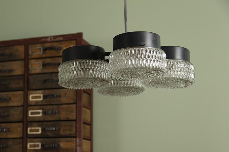 Cut Czech glass chandelier