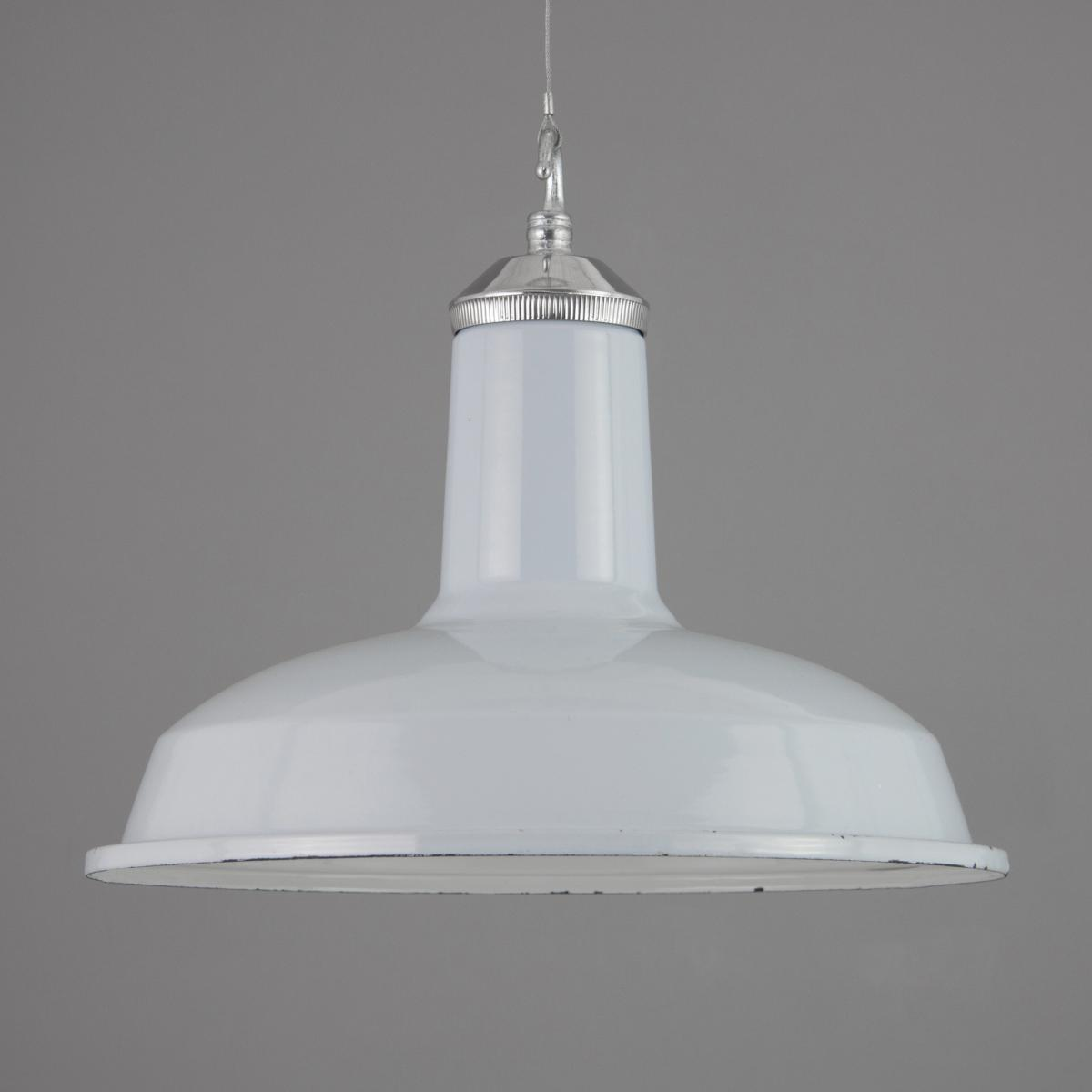 Pale blue vintage enamel pendant lights