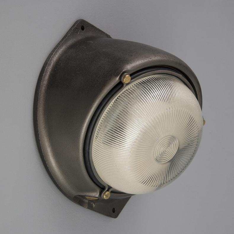 Vintage French circular bulkhead light