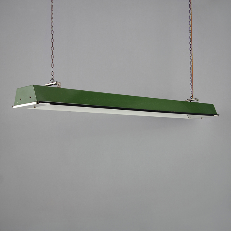 Green enamel pendant lights by Thorlux