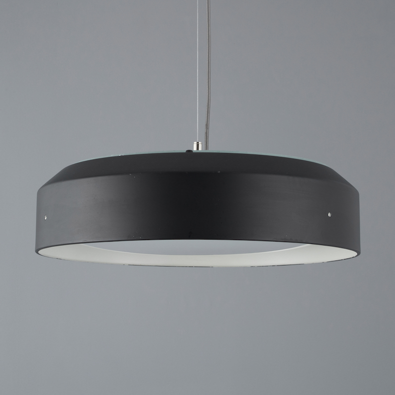 Retro low profile pendant light 1960s