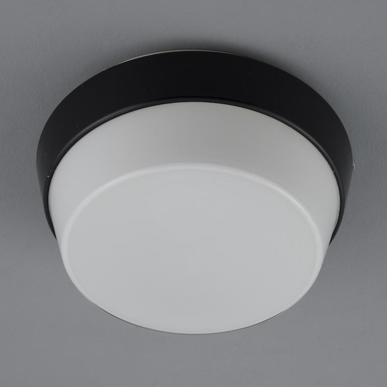 Retro Czech opaline glass ceiling lights