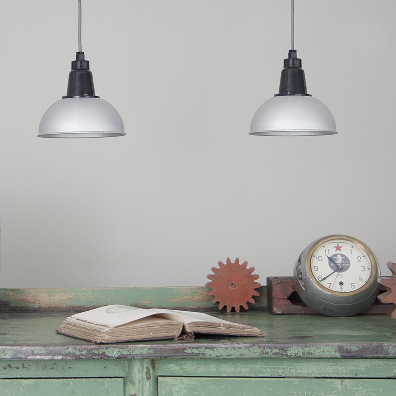 Salvaged Soviet pendant lights