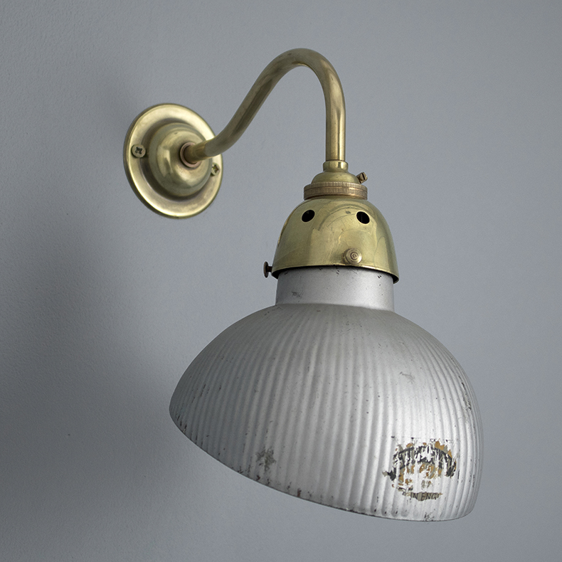 1920s glass wall light by GEC