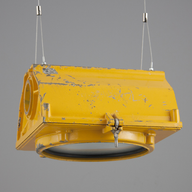 Yellow reclaimed US traffic lights by LFE