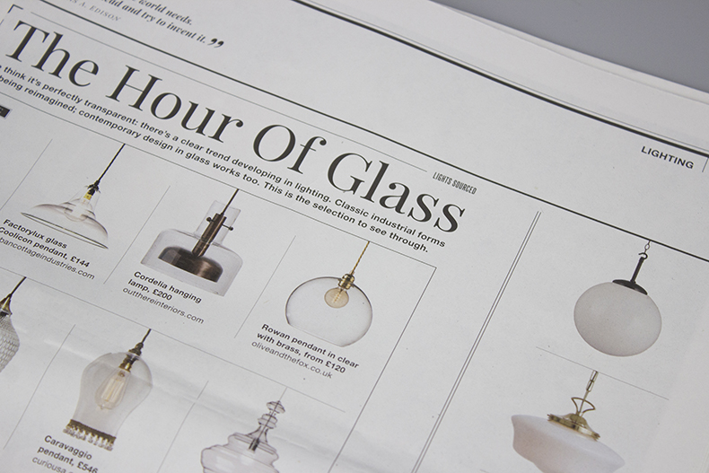 Warehouse home magazine issue 5 opaline lights