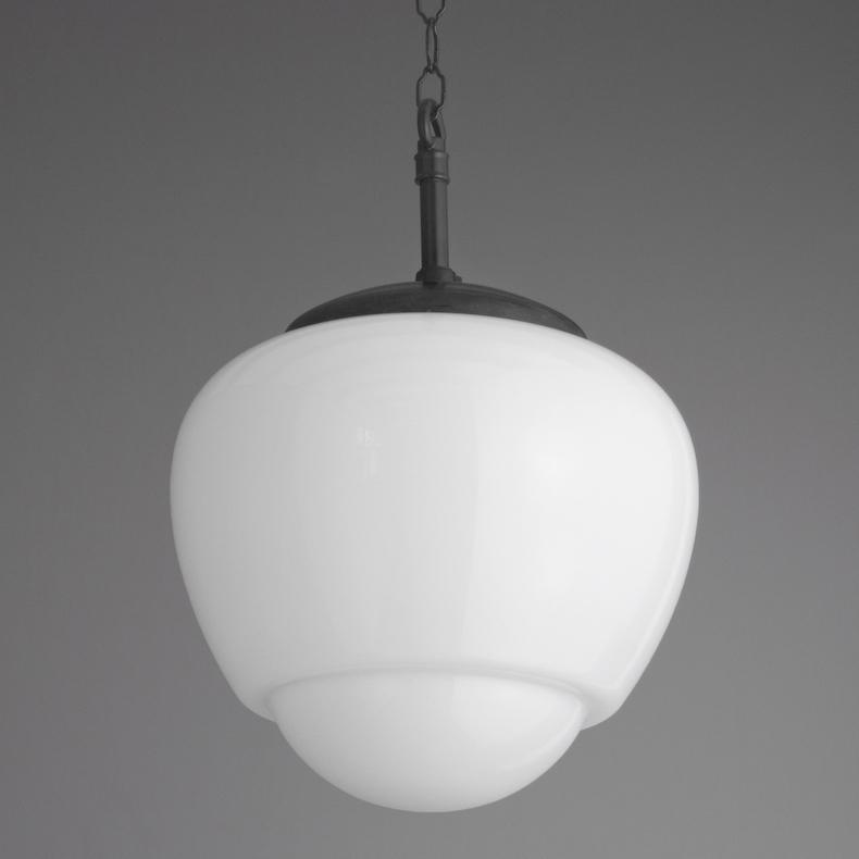 skinflint Elegant glass and bakelite teardrop pendants