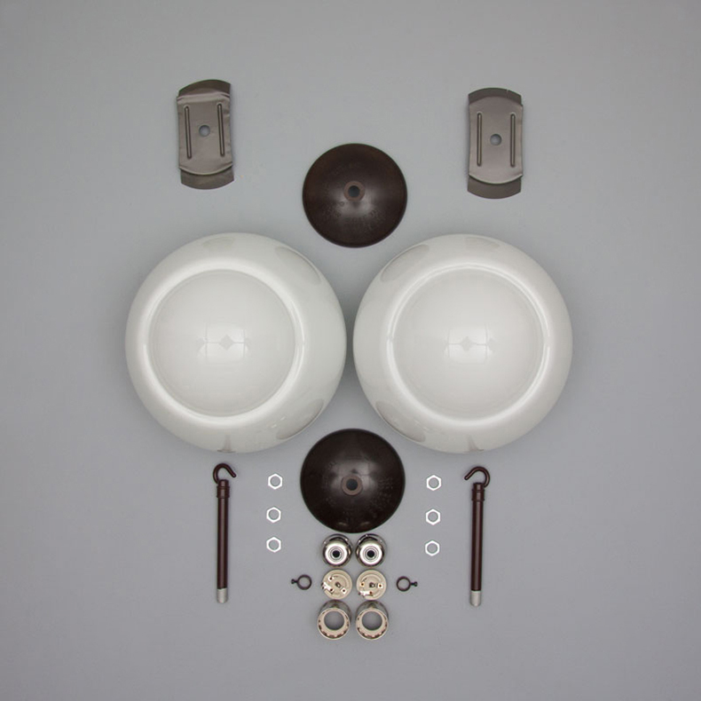 Elegant opaline pendant lights