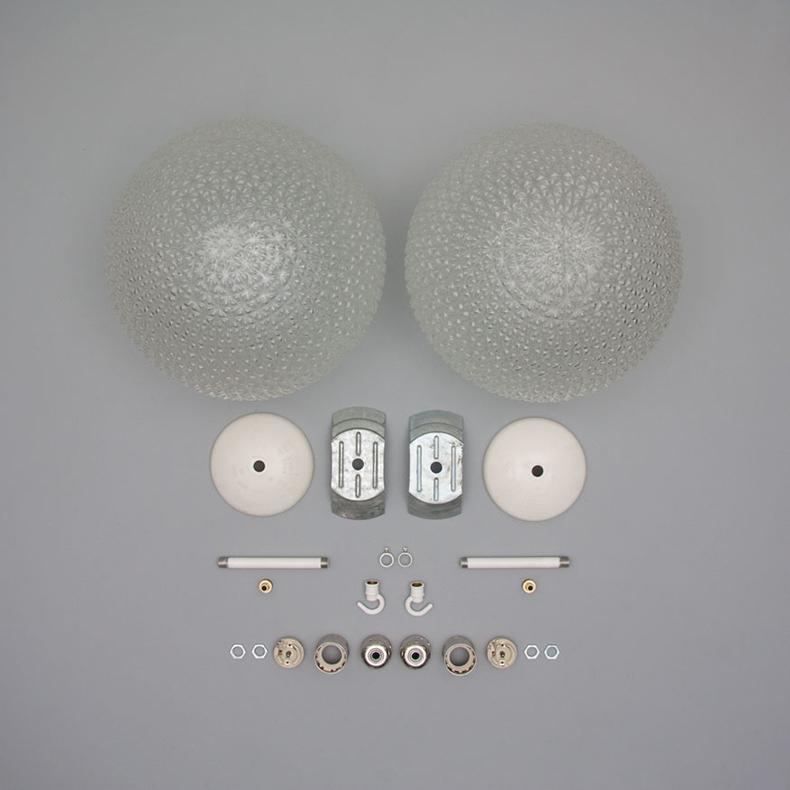 Retro czech glass pendant lights