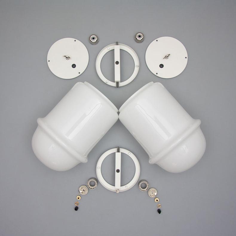 vintage decorative opaline glass pendant lights