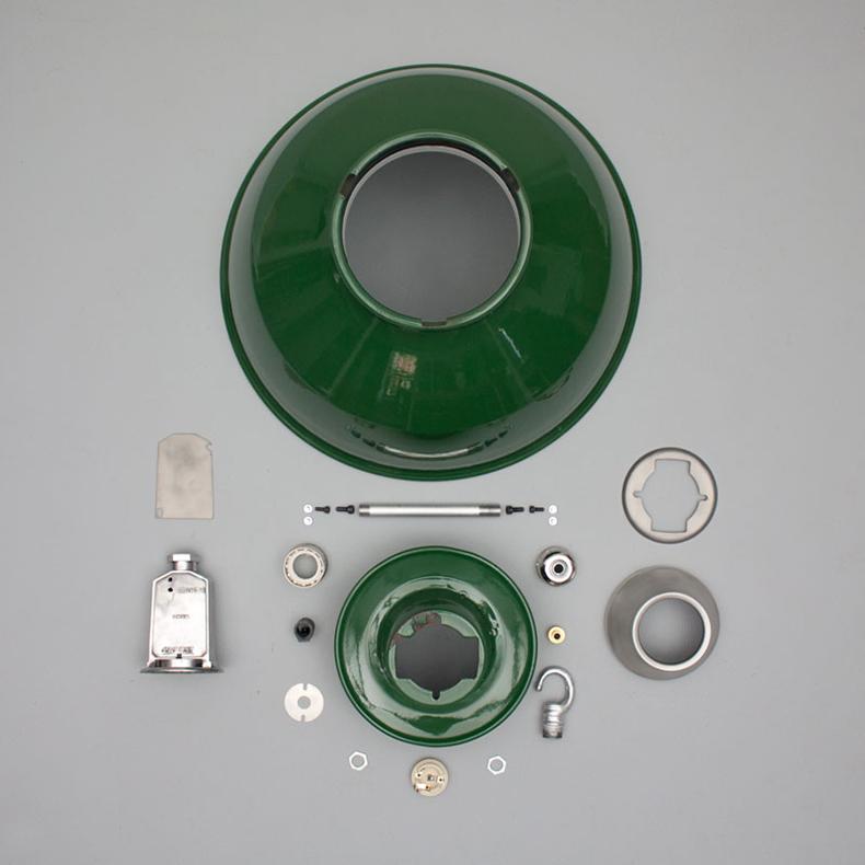 Green enamel pendant by Thorlux