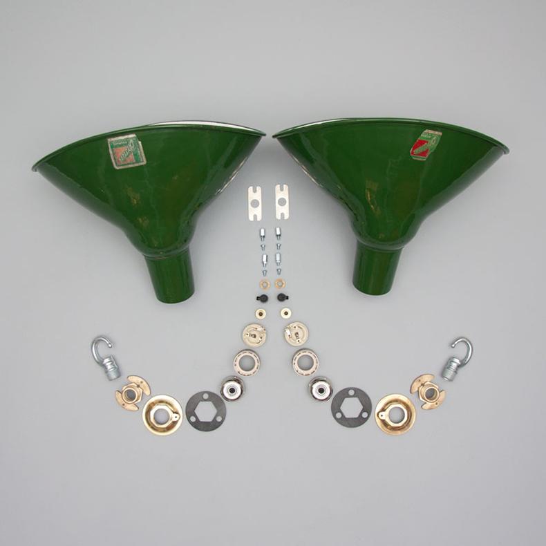 Elliptical pendant lights by Benjamin
