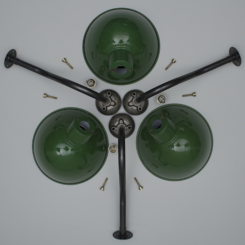 Industrial enamelled wall lights by REVO