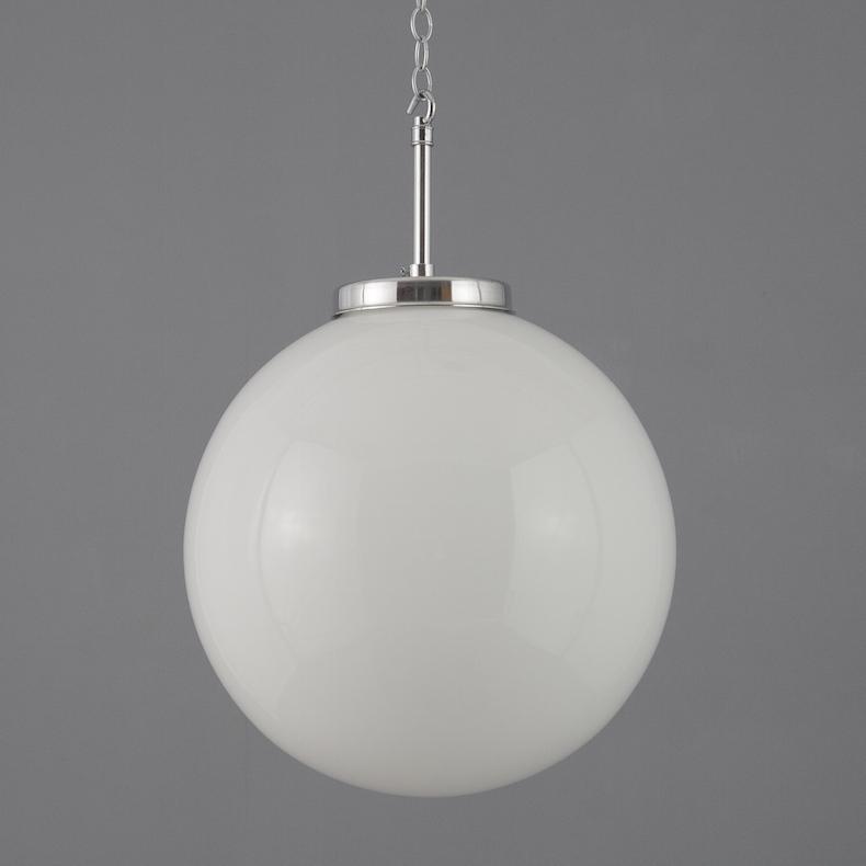 Opaline globe pendant lights