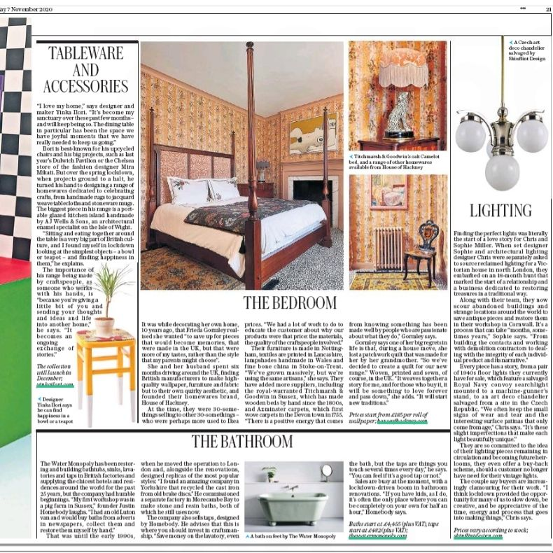 Skinflint lighting in The Daily Telegraph