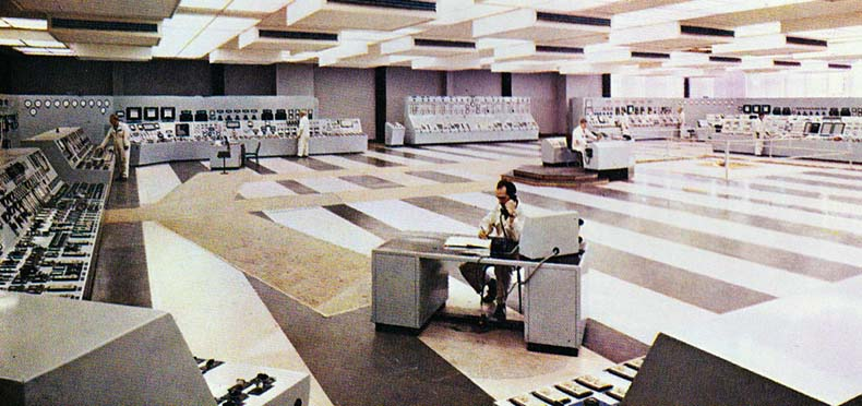Central Control Room at Eggborough Power Station in 1970