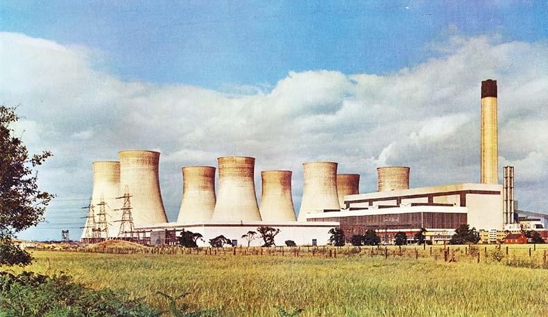 Vintage photograph of Eggborough Power Station 1970s