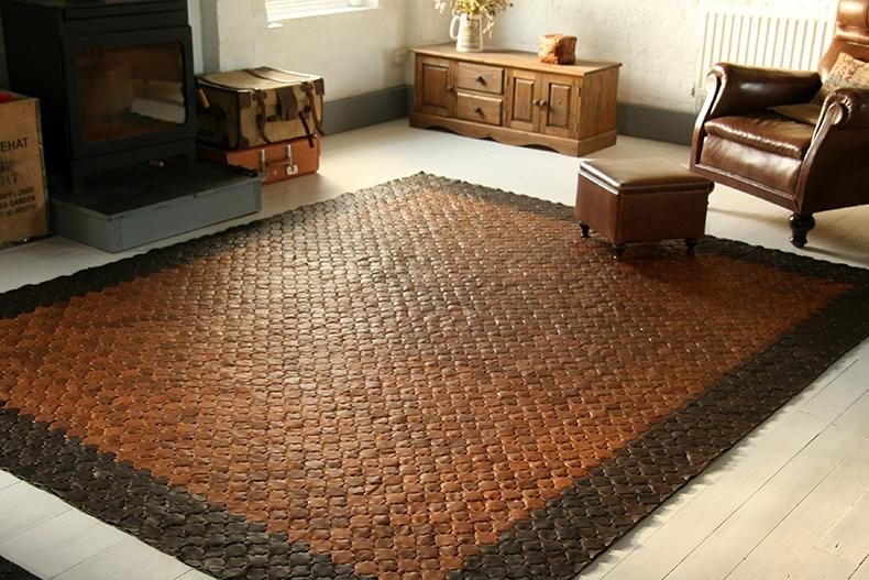 Elvis & Kresse leather rug