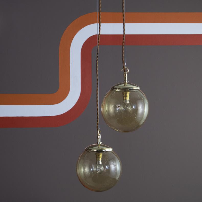 Retro Gold bubble pendant lights