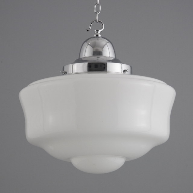 Czech glass opaline pendant lights