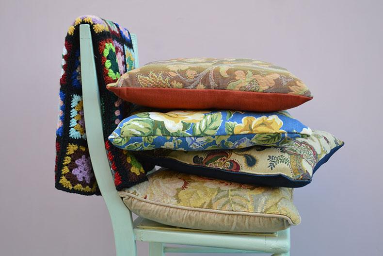 skinflint meets Bella Dunne - cushions