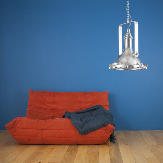 Vintage floodlight pendants by GEC