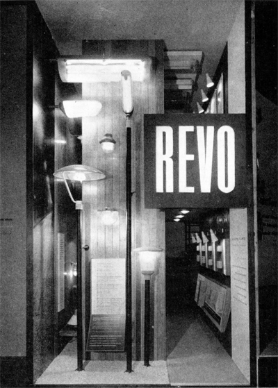 REVO stand at the 1958 Brussels exhibition